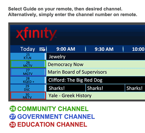 How to watch Marin TV on cable: | Community Media Center of